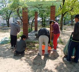 芦屋市内公園清掃